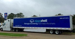 Advertising on a Semi-Trailer