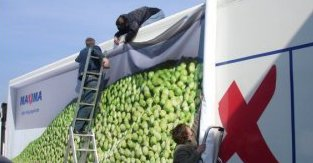 Crew Installing Banner on a Truck