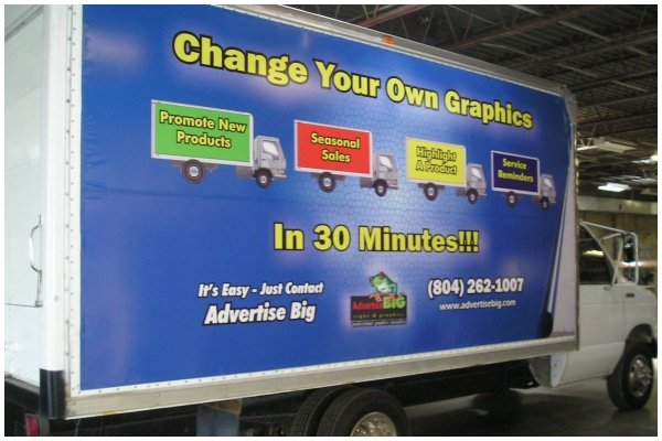Ad on Truck