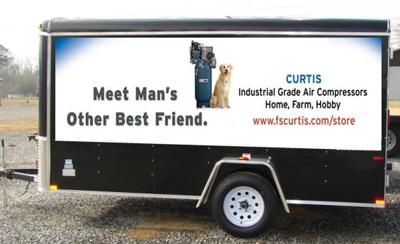 Cargo Ad on a Truck