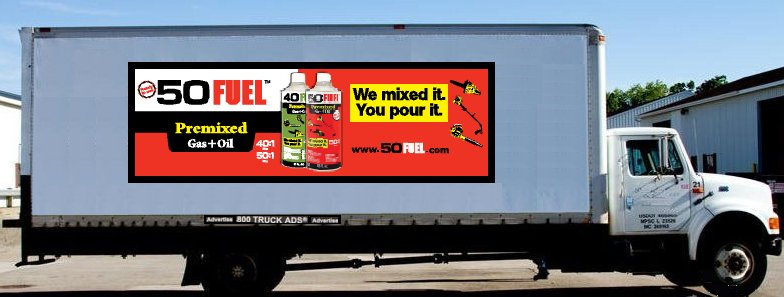 Semi-Trailer Ad on a Box Truck