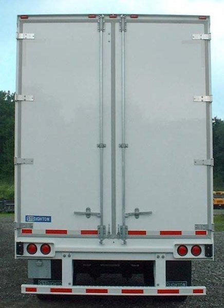 Truck Side Advertising Trailer Back Door