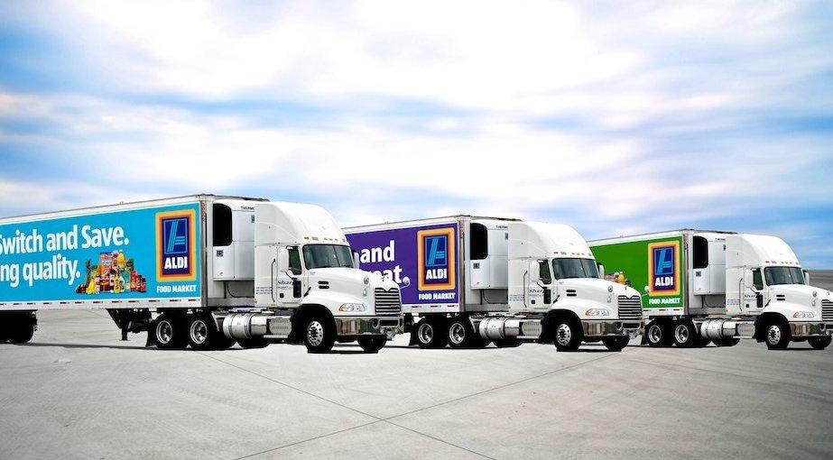 ALDI Ad Campaign on a Truck