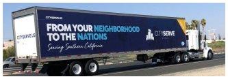 City Serve Fleet Graphics on a Truck