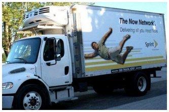 Sprint Ad on Truck