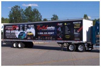 Vinyl Banner on Truck