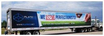 Plateco Fleet Graphics on a Truck