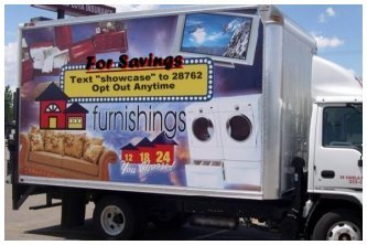 Advertisement on Box Truck