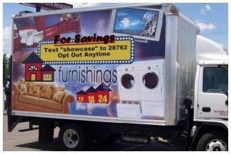 Advertisement on Box Truck