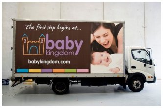 Finished Installation of Banner on a Truck
